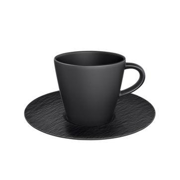 Villeroy & Boch - Manufacture Rock - filiżanka do kawy ze spodkiem - pojemność: 0,22 l