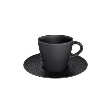 Villeroy & Boch - Manufacture Rock - filiżanka do espresso ze spodkiem - pojemność: 0,1 l