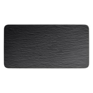 Villeroy & Boch - Manufacture Rock - prostokątny talerz do serwowania - wymiary: 35 x 18 cm