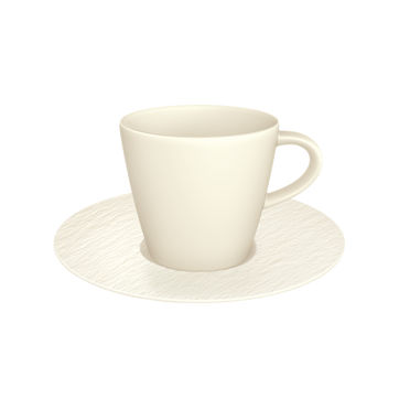 Villeroy & Boch - Manufacture Rock blanc - filiżanka do kawy ze spodkiem - pojemność: 0,22 l