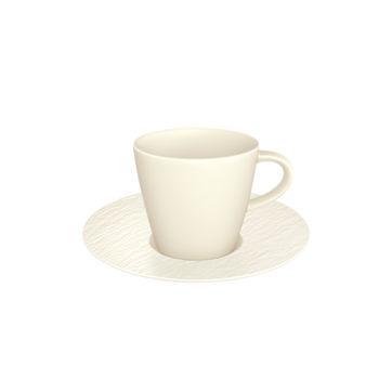Villeroy & Boch - Manufacture Rock blanc - filiżanka do espresso ze spodkiem - pojemność: 0,1 l