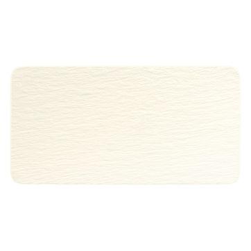 Villeroy & Boch - Manufacture Rock blanc - prostokątny talerz do serwowania - wymiary: 35 x 18 cm