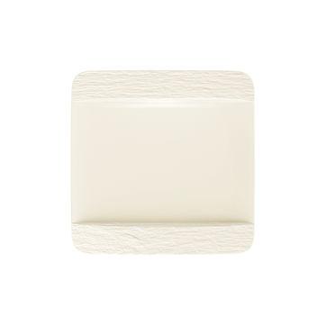 Villeroy & Boch - Manufacture Rock blanc - kwadratowy talerz płaski - wymiary: 28 x 28 cm