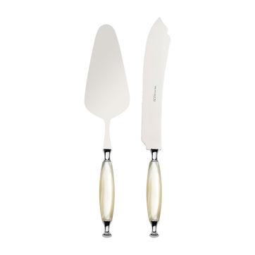 Bugatti - Country Ivory - sztućce do serwowania ciasta - łopatka i nóż