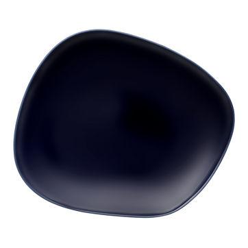 Villeroy & Boch - Organic Dark Blue - talerz płaski - wymiary: 30 x 24 cm
