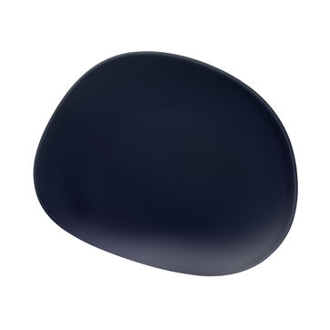 Villeroy & Boch - Organic Dark Blue - talerz sałatkowy - wymiary: 21 x 17 cm