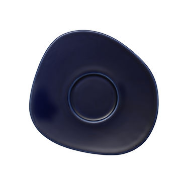 Villeroy & Boch - Organic Dark Blue - spodek do filiżanki do kawy - wymiary: 17,5 x 16 cm