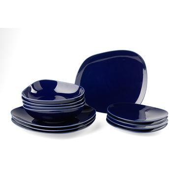 Villeroy & Boch - Organic Dark Blue - zestaw Starter - 12 elementów