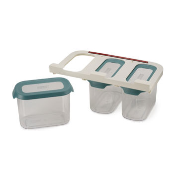 Joseph Joseph - CupboardStore - zestaw zawieszanych pojemników kuchennych - pojemność: 3 x 1,3 l