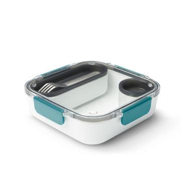 Black Blum - Lunch Box Original - pojemnik na lunch z widelcem - wymiary: 20 x 20 x 5,5 cm