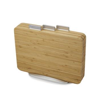 Joseph Joseph - Index Bamboo - komplet bambusowych desek do krojenia - 3 sztuki na stojaku; wymiary deski: 35,5 x 25,5 cm