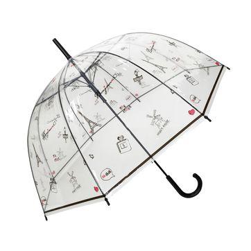 Smati - Bonjour Paris - parasol głęboki - średnica: 85 cm