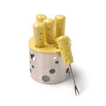 Sagaform - Cheese - 5 widelczyków na stojaku