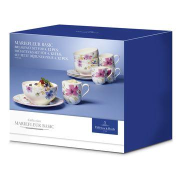 Villeroy & Boch - Mariefleur Basic - zestaw śniadaniowy - dla 4 osób; 12 elementów
