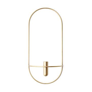 Menu - POV Oval - świeczniki lub wazony naścienne - wymiary: 22 x 44 cm