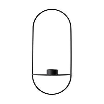 Menu - POV Oval - naścienny świecznik na tealight - wymiary: 22 x 44 cm