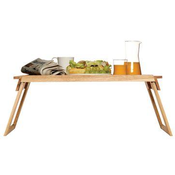 Sagaform - Oval Oak - dębowy stolik śniadaniowy - wymiary: 62 x 30 cm