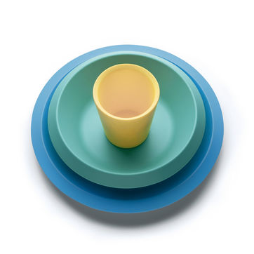 Alessi - Giro Kids - zestaw naczyń dla dzieci - talerz, miska i kubek