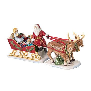Villeroy & Boch - Christmas Toys - świecznik na tealight - sanie Mikołaja - wymiary: 36 x 14 x 17 cm