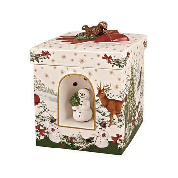Villeroy & Boch - Christmas Toys - pudełko-lampion z pozytywką - wymiary: 16 x 16 x 21,5 cm