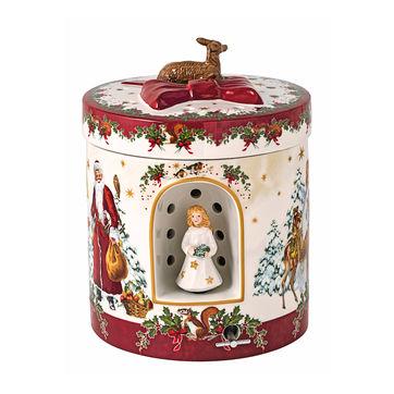 Villeroy & Boch - Christmas Toys - pudełko-lampion z pozytywką - wysokość: 21,5 cm