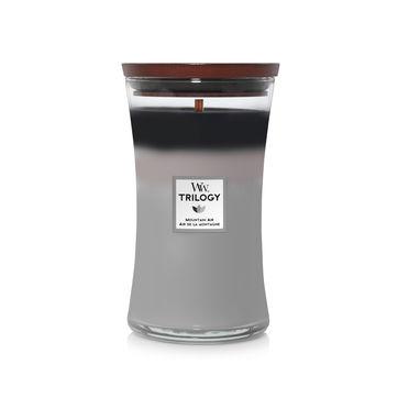 WoodWick - Mountain Air - potrójna świeca zapachowa - górskie powietrze - czas palenia: do 120 godzin