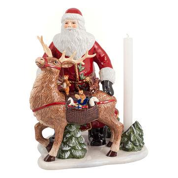 Villeroy & Boch - Christmas Toys Memory - świecznik - Mikołaj z reniferem - wymiary: 30 x 24 x 35 cm