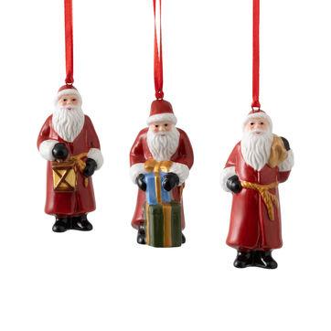 Villeroy & Boch - Nostalgic Ornaments - 3 zawieszki - Święty Mikołaj - wysokość: 8 cm