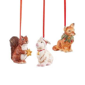Villeroy & Boch - Nostalgic Ornaments - 3 zawieszki - leśne zwierzęta - wysokość: 6 cm