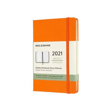Moleskine - Classic - kalendarz tygodniowy - 2021 - wymiary: 9 x 14 cm; twarda oprawa