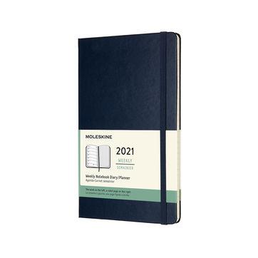 Moleskine - Classic - kalendarz tygodniowy - 2021 - wymiary: 13 x 21 cm; twarda oprawa