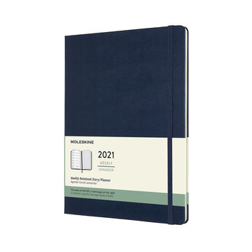 Moleskine - Classic - kalendarz tygodniowy - 2021 - wymiary: 19 x 25 cm; twarda oprawa