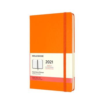 Moleskine - Classic - kalendarz dzienny - 2021 - wymiary: 13 x 21 cm; twarda oprawa