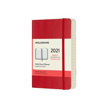 Moleskine - Classic - kalendarz dzienny - 2021 - wymiary: 9 x 14 cm; miękka oprawa