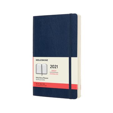 Moleskine - Classic - kalendarz dzienny - 2021 - wymiary: 13 x 21 cm; miękka oprawa