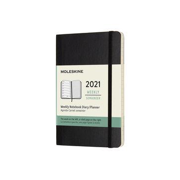 Moleskine - Classic - kalendarz tygodniowy - 2021 - wymiary: 9 x 14 cm; miękka oprawa