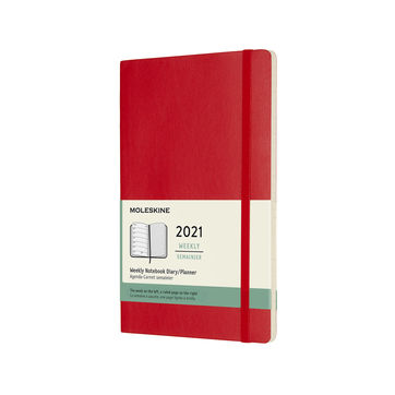 Moleskine - Classic - kalendarz tygodniowy - 2021 - wymiary: 13 x 21 cm; miękka oprawa