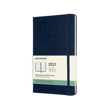 Moleskine - Classic - kalendarz tygodniowy horyzontalny - 2021 - wymiary: 13 x 21 cm; twarda oprawa