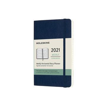 Moleskine - Classic - kalendarz tygodniowy horyzontalny - 2021 - wymiary: 9 x 14 cm; miękka oprawa