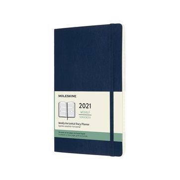 Moleskine - Classic - kalendarz tygodniowy horyzontalny - 2021 - wymiary: 13 x 21 cm; miękka oprawa