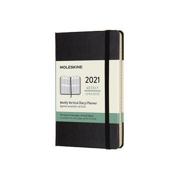 Moleskine - Classic - kalendarz tygodniowy wertykalny - 2021 - wymiary: 9 x 14 cm; twarda oprawa
