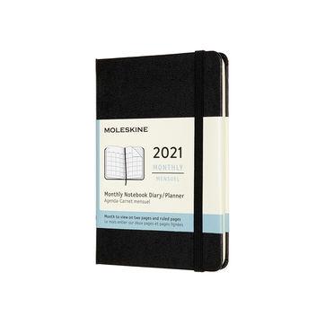 Moleskine - Classic - kalendarz miesięczny - 2021 - wymiary: 9 x 14 cm; twarda oprawa