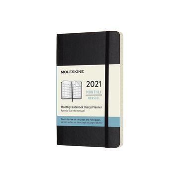 Moleskine - Classic - kalendarz miesięczny - 2021 - wymiary: 9 x 14 cm; miękka oprawa