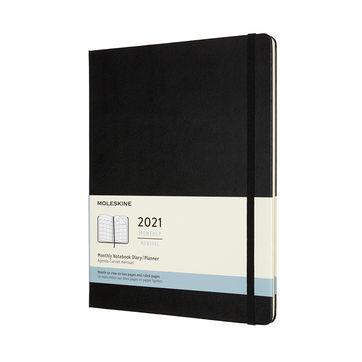 Moleskine - Classic - kalendarz miesięczny - 2021 - wymiary: 19 x 25 cm; twarda oprawa