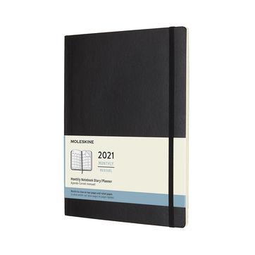 Moleskine - Classic - kalendarz miesięczny - 2021 - wymiary: 19 x 25 cm; miękka oprawa