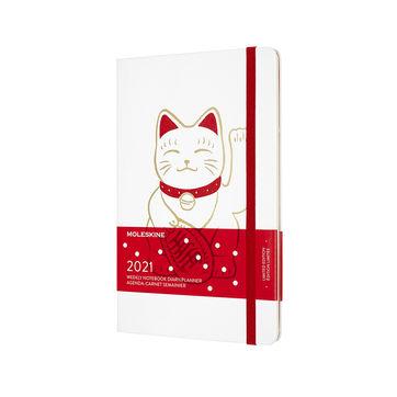 Moleskine - Maneki-neko - kalendarz tygodniowy - 2021 - wymiary: 13 x 21 cm; twarda oprawa