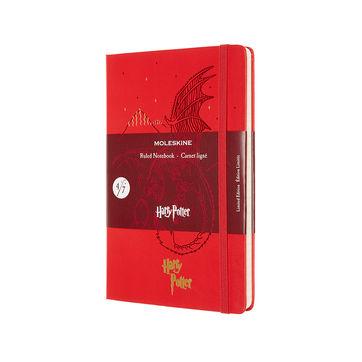 Moleskine - Harry Potter Book 4 - notatnik - Czara Ognia - wymiary: 13 x 21 cm; w linie