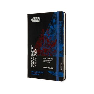 Moleskine - Star Wars - notatnik - Millennium Falcon - wymiary: 13 x 21 cm; w linie