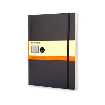 Moleskine - Classic - notatnik w linie - wymiary: 19 x 25 cm; miękka oprawa