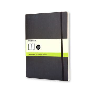 Moleskine - Classic - notatnik gładki - wymiary: 19 x 25 cm; miękka oprawa
